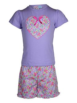 Girls summer garden pj