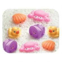 Playgro Bathtime animals 8 pack - pink