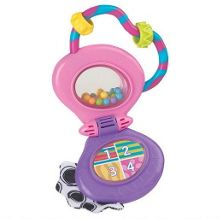 Musical mobile phone rattle pink