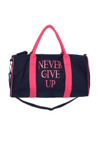 Never Give Up Gym Bag
