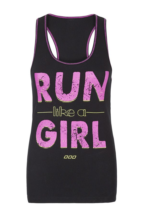 Run like a girl tank