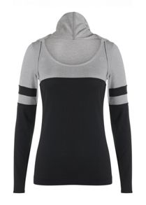 Lorna Jane Matchup Hooded Excel L/Slv Top
