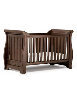 Sleigh Cot Bed English Oak