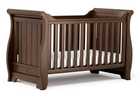 Boori Sleigh Cot Bed English Oak