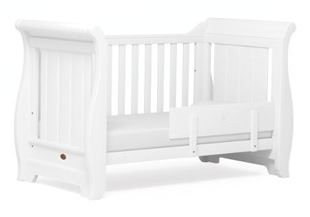 Boori Sleigh Cot Bed White