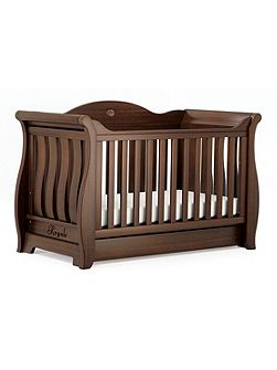 Sleigh Royale Cot Bed English Oak