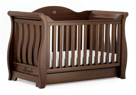 Boori Sleigh Royale Cot Bed English Oak