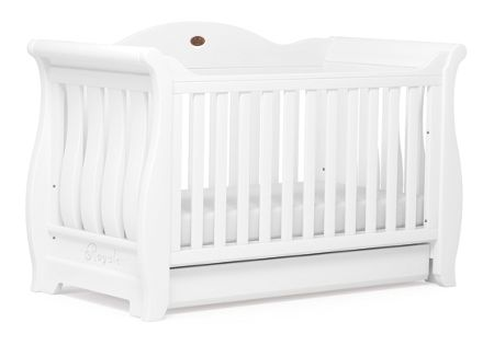 Boori Sleigh Royale Cot Bed White