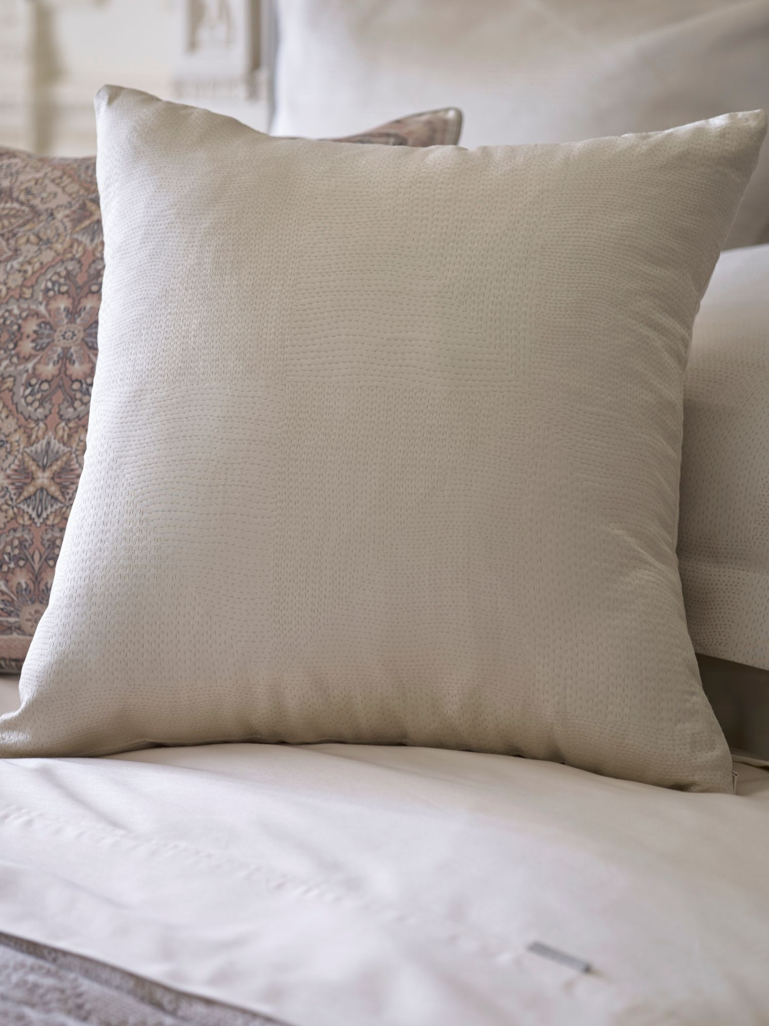 Ligon pebble cushion, intricately detailed jacqua