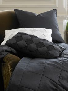 Berkley midnight cushion, 100% silk