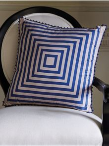 Rosemont peacock cushion pom pom trim