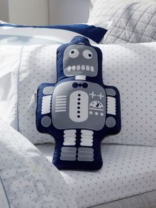 Rhys chatreuse cushion robot shape