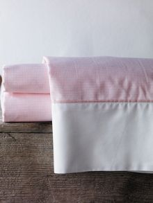 Perry marshmallow cot fitted sheet yarn dyed weav