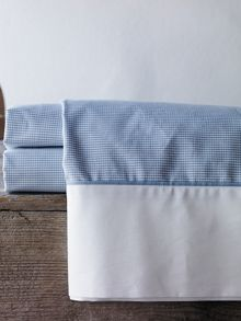 Perry chambray cot fitted sheet yarn dyed weave