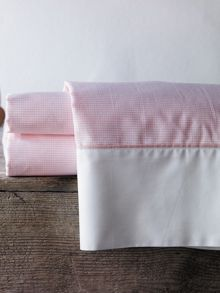 Perry marshmallow cot flat sheet yarn dyed weave