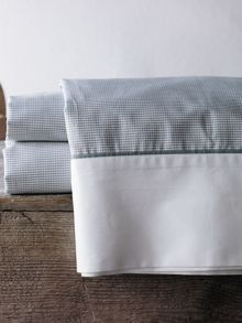 Perry fog cot flat sheet yarn dyed weave