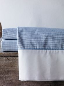Perry chambray cot flat sheet yarn dyed weave