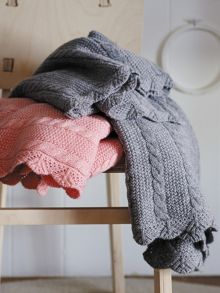Parker marshmallow receiving blanket cable knit d