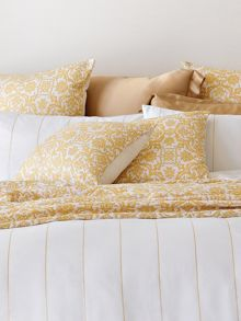 Westbourne snow cushion gold lurex thread