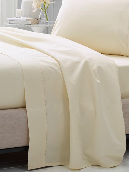 Sheridan Hotel-Weight Luxury Chalk king flat sheet