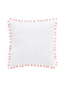 Posie chambray square cushion