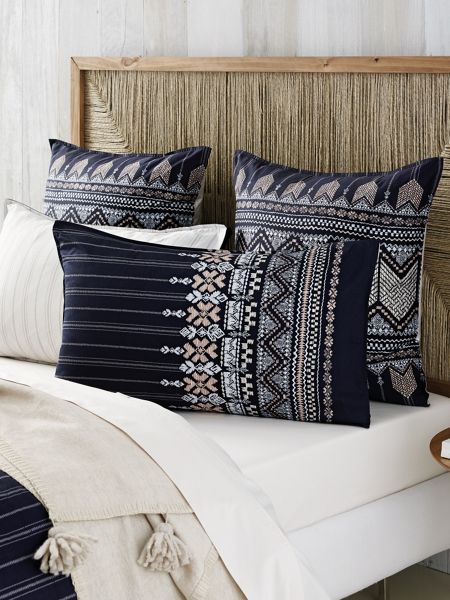Sheridan Karajini Midnight standard pillowcase pair