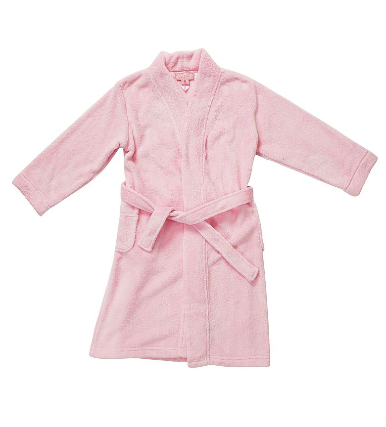 Girl`s plain dressing gown
