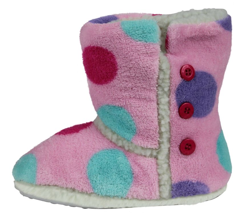 Girl`s spot slipper boot