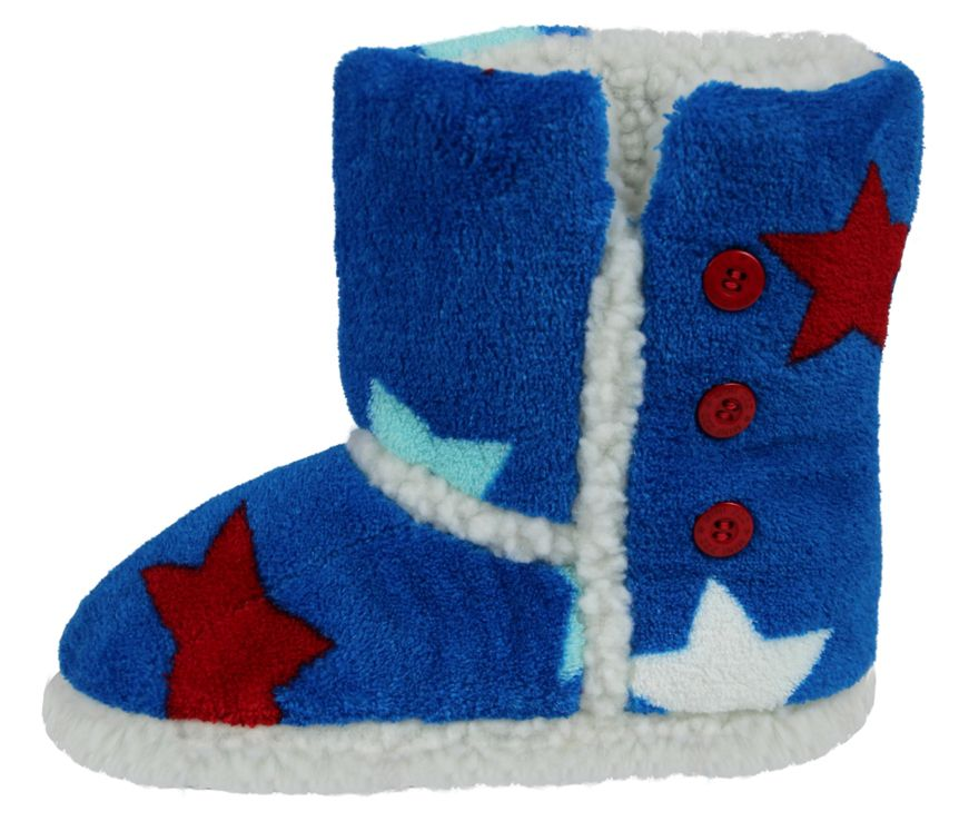 Boy`s star slipper boot