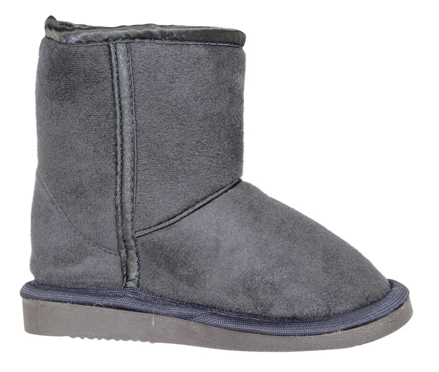 Boy`s charcoal slipper boot
