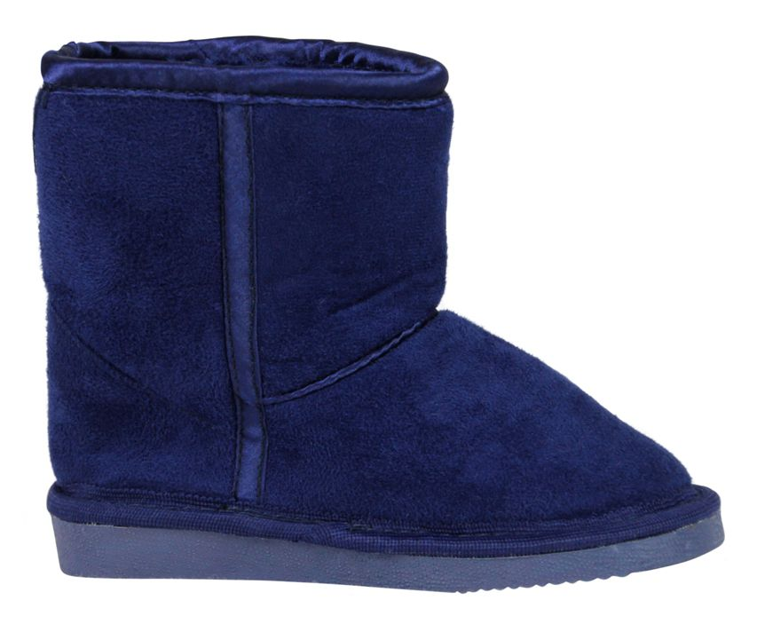 Boy`s navy slipper boot