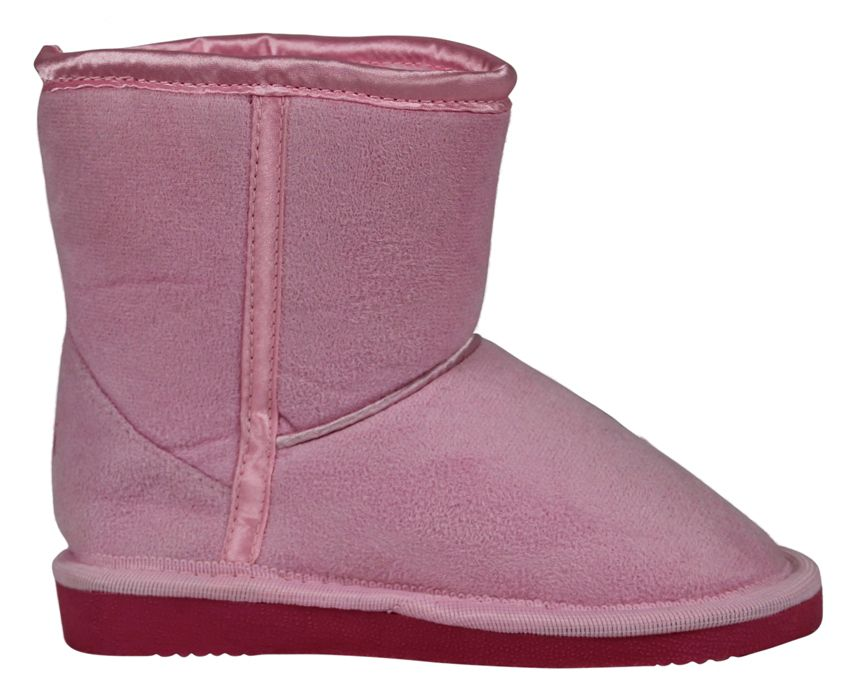 Girl`s pale pink slipper boot