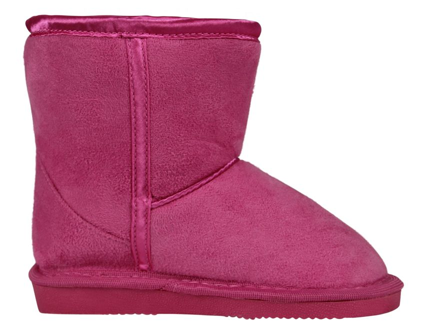 Girl`s mid pink slipper boot