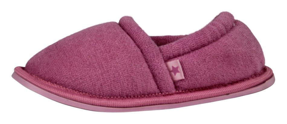 Girl`s mid pink terry slipper