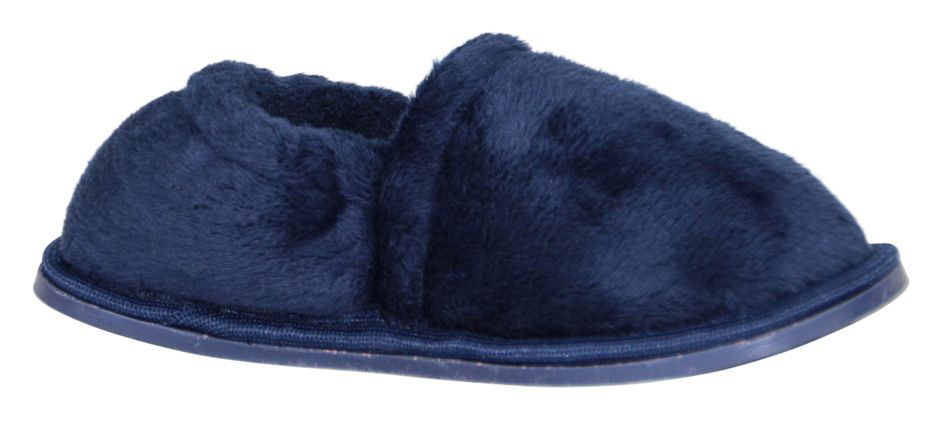 Boy`s navy velour slipper