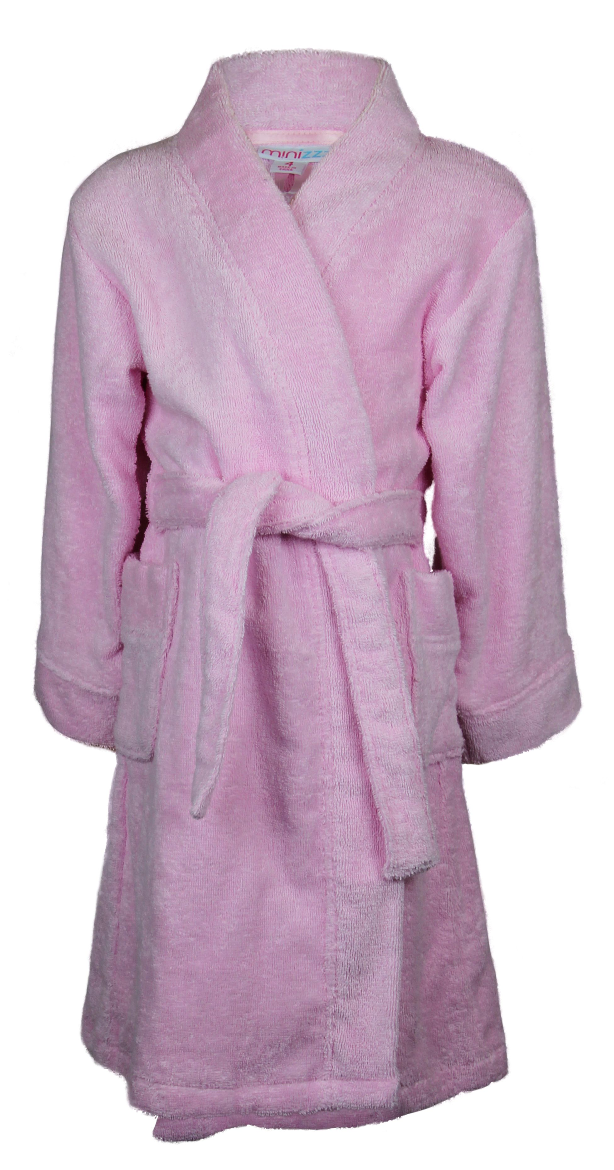 Girl`s pink terry robe