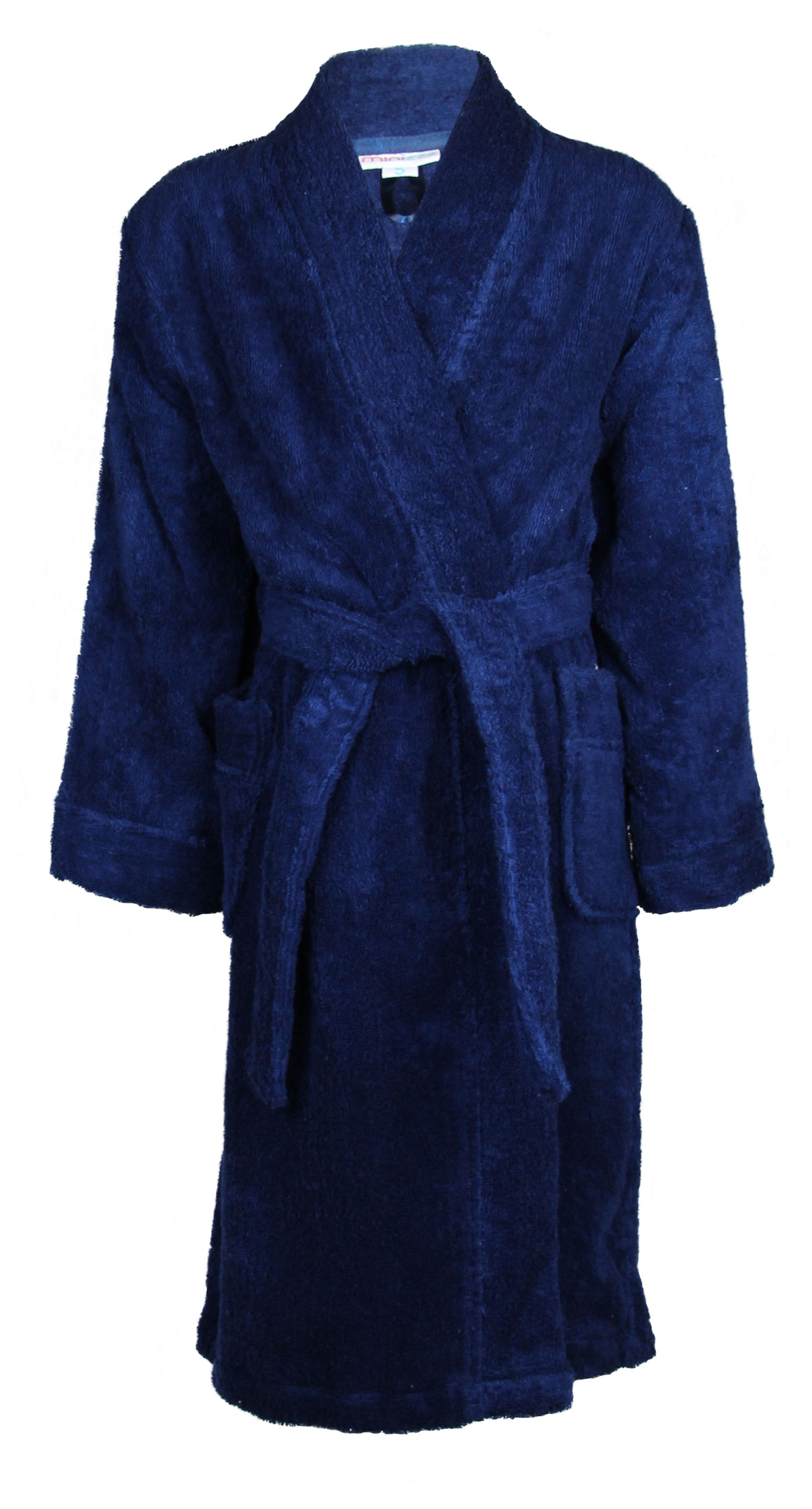 Boy`s navy terry robe