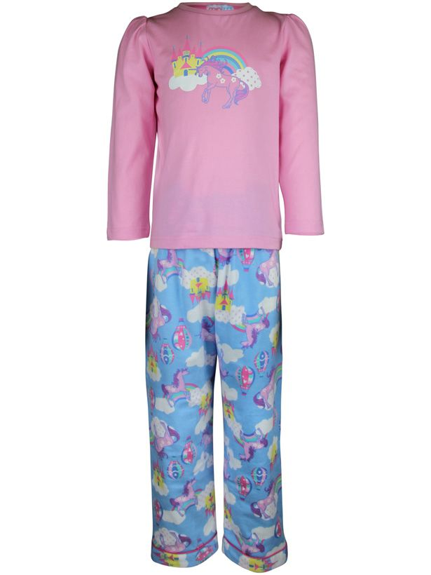 Girl`s unicorn knit & flannel pyjama