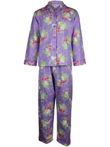 Girl`s winter bouquet flannel pyjama