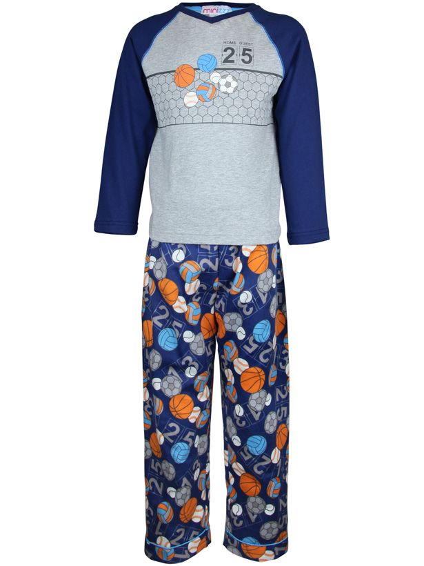 Girl`s sport time knit & flannel pyjama