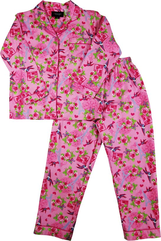Girl`s paris flannel pyjama