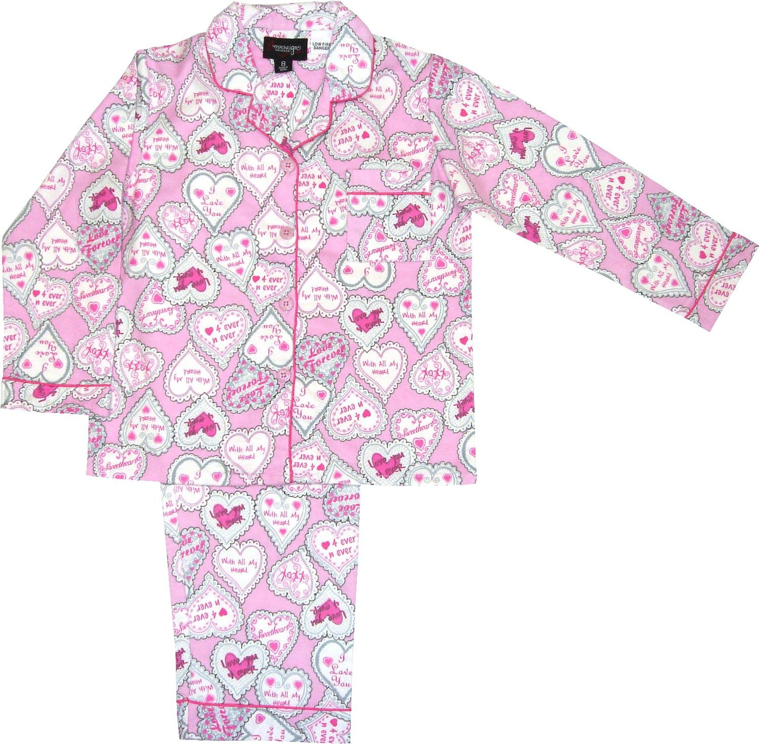 Girl`s bird knit & flannel pyjama