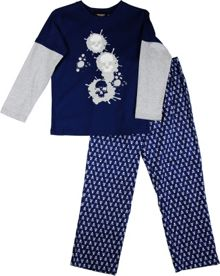Boy`s skull trio knit & flannel pyjama