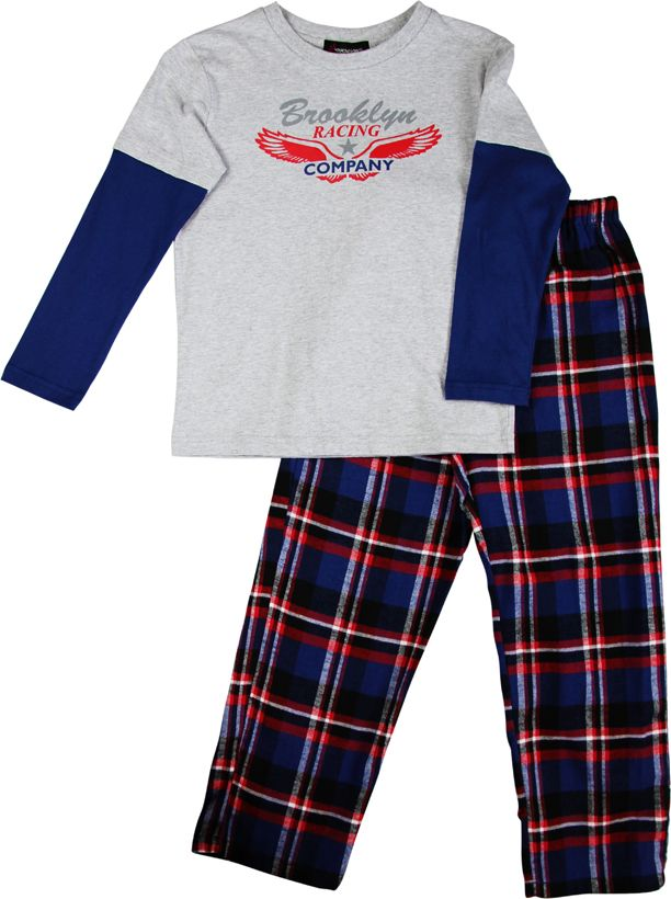 Boy`s brooklyn knit & flannel pyjama