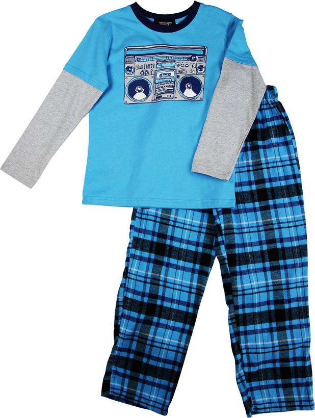Boy`s stereo knit & flannel pyjama