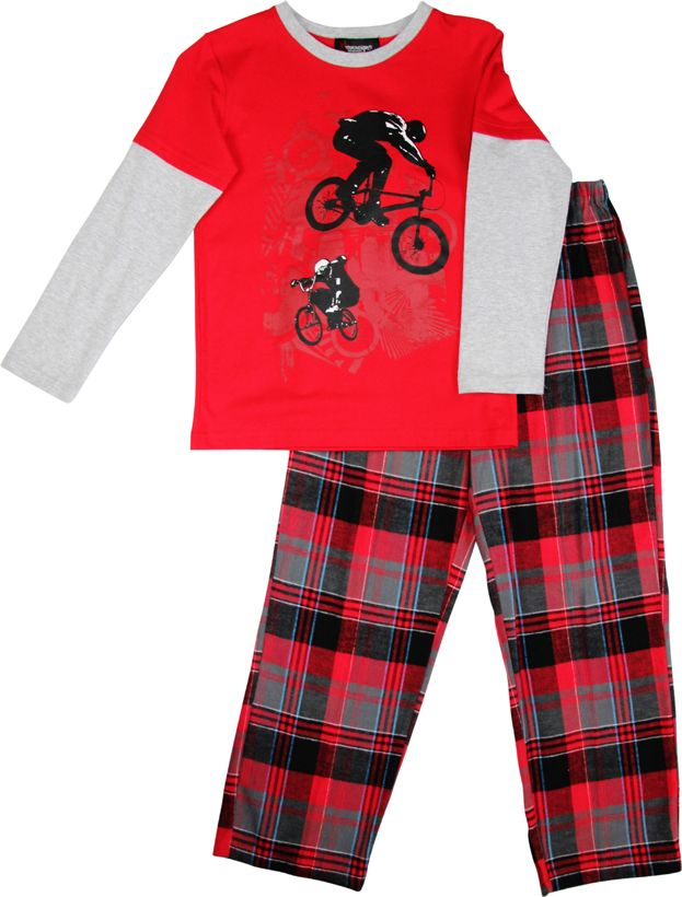 Boy`s BMX knit & flannel pyjama