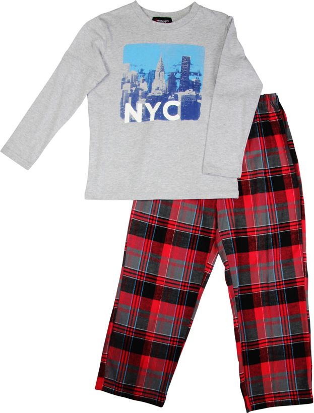 Boy`s NYC knit & flannel pyjama
