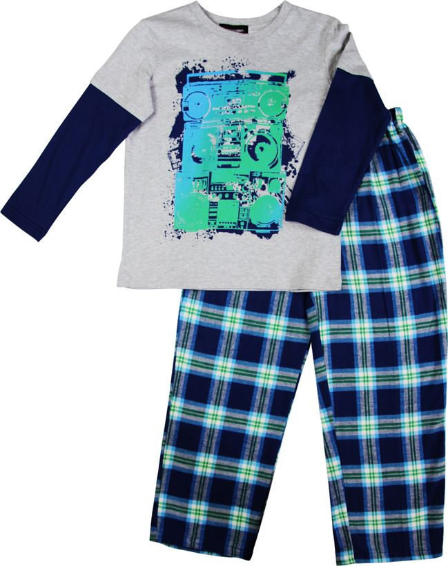 Boy`s music knit & flannel pyjama