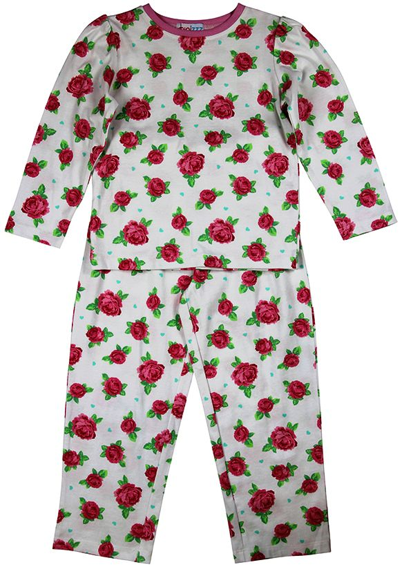 Girls vintage rose pyjamas