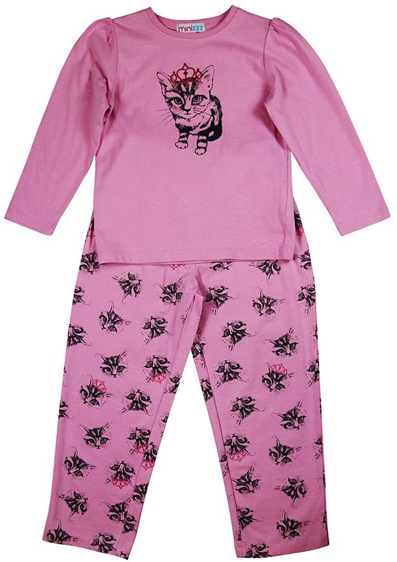 Girls kitten pyjamas